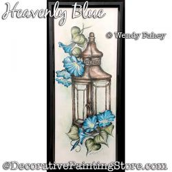 Heavenly Blue (Morning Glories / Lantern Pen and Ink) Painting Pattern PDF DOWNLOAD - Wendy Fahey