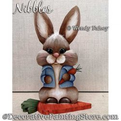 Nibbles (bunny rabbit) Painting Pattern PDF DOWNLOAD - Wendy Fahey
