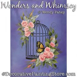 Wonders and Whimsey (Butterfly / Roses) Painting Pattern PDF DOWNLOAD - Wendy Fahey
