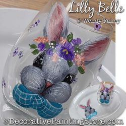 Lilly Belle Glass (Bunny) Painting Pattern PDF DOWNLOAD - Wendy Fahey