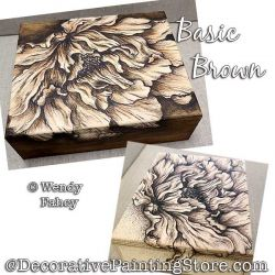 Basic Brown (Pen and Ink Sepia Flower) Painting Pattern PDF DOWNLOAD - Wendy Fahey