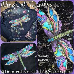 Wings of Tapestry (Dragonfly) Painting Pattern PDF DOWNLOAD - Wendy Fahey
