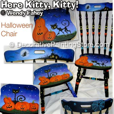 Here Kitty Kitty Halloween Chair ePacket - Wendy Fahey - PDF DOWNLOAD