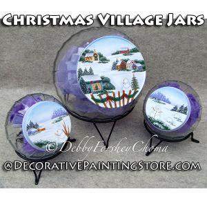 Christmas Village Cookie Jars - Debby Forshey-Choma - PDF DOWNLOAD