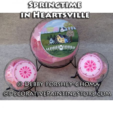 Springtime in Heartsville Cookie Jars - Debby Forshey-Choma - PDF DOWNLOAD