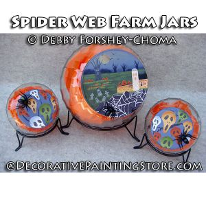 Spider Web Farm Cookie Jars - Debby Forshey-Choma - PDF DOWNLOAD