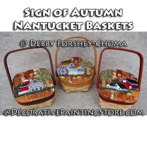 Signs of Autumn Nantucket Baskets - Debby Forshey-Choma - PDF DOWNLOAD