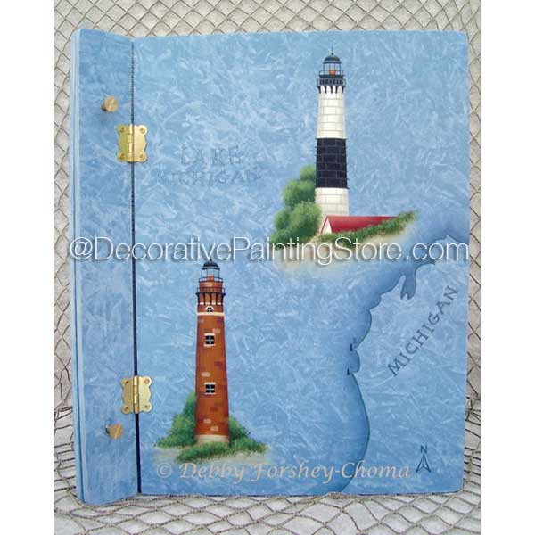 Big and Little Sable Point Lighthouses ePattern - Debby Forshey-Choma - PDF DOWNLOAD