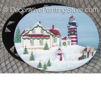 Winter at West Quoddy Lighthouse ePattern - Debby Forshey-Choma - PDF DOWNLOAD