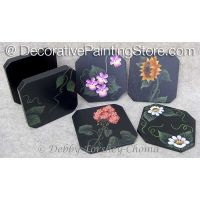 Floral Coasters Set 1 ePattern - Debby Forshey-Choma - PDF DOWNLOAD