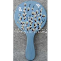 Pussywillows Hand Mirror ePattern - Debby Forshey-Choma - PDF DOWNLOAD