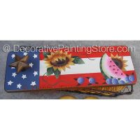 Patriotic Summer Cracker Basket ePattern - Debby Forshey-Choma - PDF DOWNLOAD