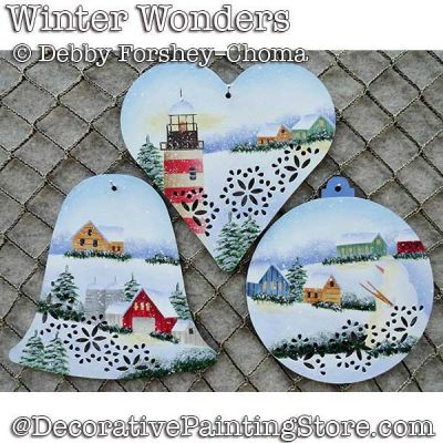 Winter Wonders Tin Ornaments DOWNLOAD - Debby Forshey-Choma