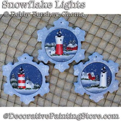 Snowflake Lights Ornaments DOWNLOAD - Debby Forshey-Choma