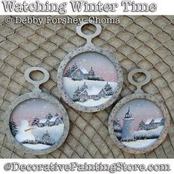 Watching Winter Time Ornaments DOWNLOAD - Debby Forshey-Choma