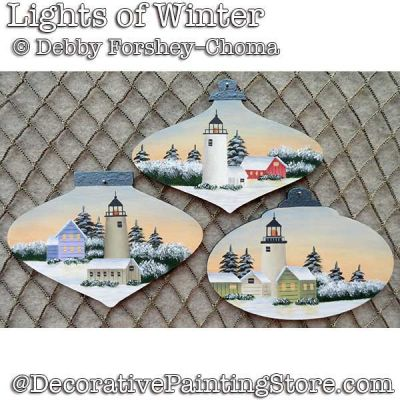 Lights of Winter Ornaments DOWNLOAD - Debby Forshey-Choma