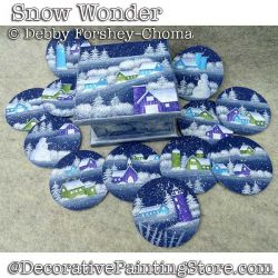 Snow Wonder Ornaments and Box DOWNLOAD - Debby Forshey-Choma