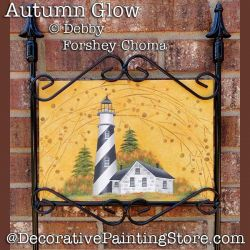 Autumn Glow Lighthouse Yard Sign DOWNLOAD - Debby Forshey-Choma