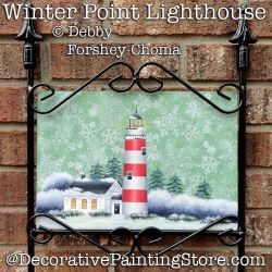 Winter Point Lighthouse Yard Sign DOWNLOAD - Debby Forshey-Choma