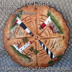 Beacons of Light Lighthouse Lazy Susan DOWNLOAD - Debby Forshey-Choma