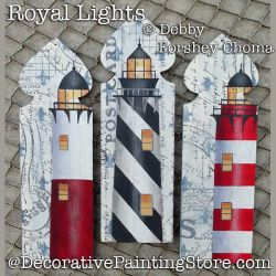 Royal Lights Lighthouse Picket Ornaments DOWNLOAD - Debby Forshey-Choma