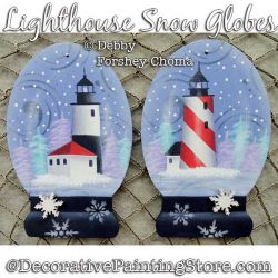 Lighthouse Snow Globes Ornaments DOWNLOAD - Debby Forshey-Choma