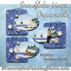 Snowflake Magic Ornaments DOWNLOAD - Debby Forshey-Choma