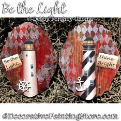 Be the Light Ornaments (Lighthouse) Painting Pattern DOWNLOAD - Debby Forshey-Choma