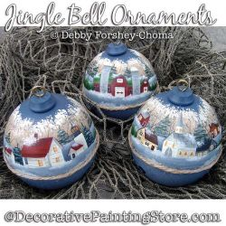 Jingle Bell Ornaments (Snow Scenes) Painting Pattern DOWNLOAD - Debby Forshey-Choma