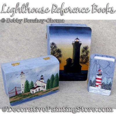 Lighthouse Reference Book Ornaments Painting Pattern DOWNLOAD - Debby Forshey-Choma