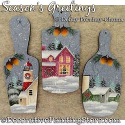 Seasons Greetings Ornaments Painting Pattern DOWNLOAD - Debby Forshey-Choma