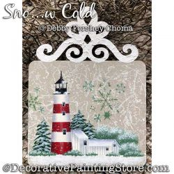 Sno-w Cold Ornament Painting Pattern DOWNLOAD - Debby Forshey-Choma