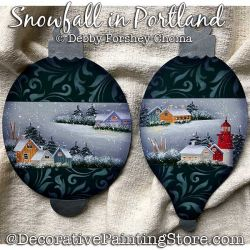 Snowfall in Portland Ornaments Painting Pattern DOWNLOAD - Debby Forshey-Choma