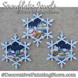 Snowflake Jewels Ornaments Painting Pattern DOWNLOAD - Debby Forshey-Choma