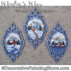 Winters Way Ornaments Painting Pattern DOWNLOAD - Debby Forshey-Choma