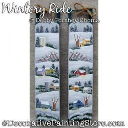 Wintery Ride Sleds Painting Pattern DOWNLOAD - Debby Forshey-Choma