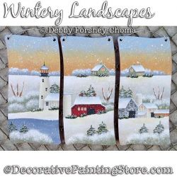 Wintery Landscapes Painting Pattern DOWNLOAD - Debby Forshey-Choma