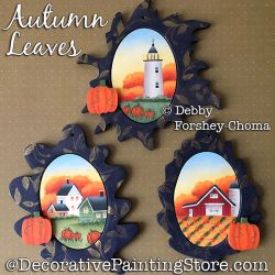 Autumn Leaves Ornaments Painting Pattern DOWNLOAD - Debby Forshey-Choma