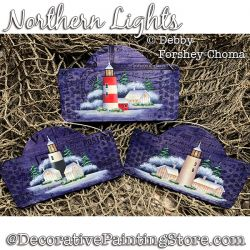 Northern Lights Ornaments Painting Pattern DOWNLOAD - Debby Forshey-Choma