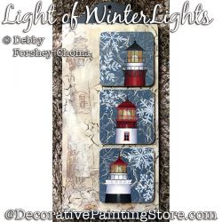 Light of Winter Lights Painting Pattern DOWNLOAD - Debby Forshey-Choma