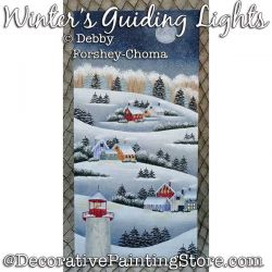 Winter Guiding Lights Painting Pattern PDF DOWNLOAD - Debby Forshey-Choma