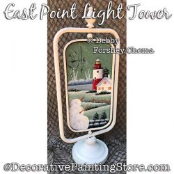 East Point Light Tower Painting Pattern PDF DOWNLOAD - Debby Forshey-Choma