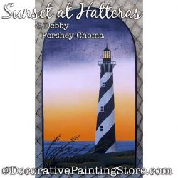 Sunset at Hatteras Painting Pattern PDF DOWNLOAD - Debby Forshey-Choma