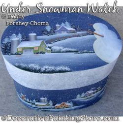Under Snowman Watch Painting Pattern PDF DOWNLOAD - Debby Forshey-Choma