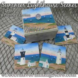 Summer Lighthouse Scenes Painting Pattern PDF DOWNLOAD - Debby Forshey-Choma