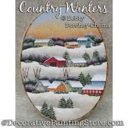 Country Winters Painting Pattern PDF DOWNLOAD - Debby Forshey-Choma