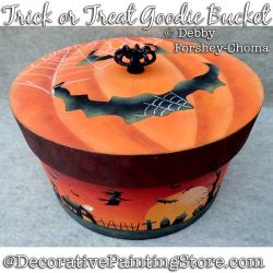 Trick or Treat Bucket Painting Pattern PDF DOWNLOAD - Debby Forshey-Choma