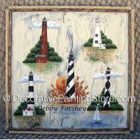 OBX Lighthouses ePattern - Debby Forshey-Choma - PDF DOWNLOAD