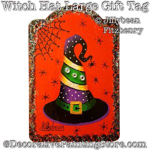 Witch Hat Large Gift Tag DOWNLOAD - Jillybean Fitzhenry