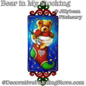 Bear in My Stocking Ornament DOWNLOAD - Jillybean Fitzhenry